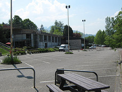 Le parking central du campus de Jacob-Bellecombette,