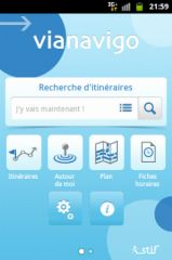 Copie d'écran d'une application (Vianavigo)
